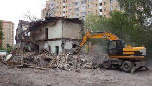 Демонтаж зданий в Туле